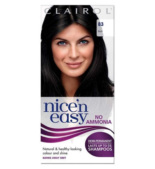 Clairol Nice'n Easy No-Ammonia Shade 83 Black Hair Dye