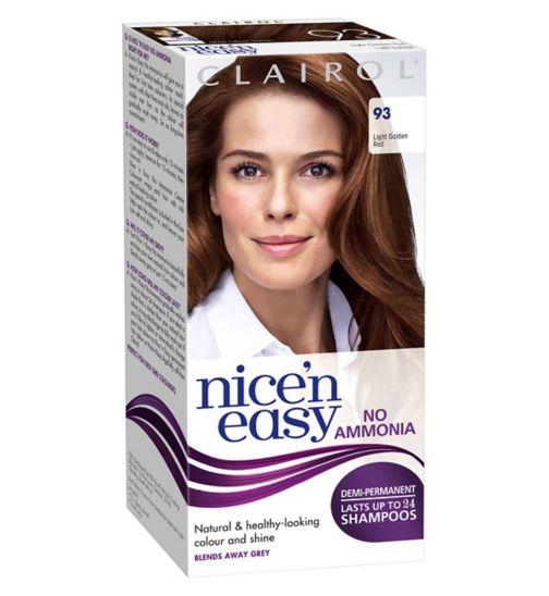 Clairol Nice'n Easy No-Ammonia Shade 93 Light Golden Red Hair Dye