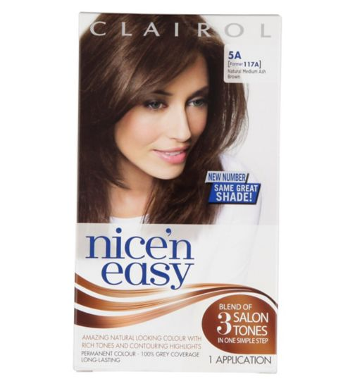Nice'n Easy Permanent colour #5A Natural Medium Ash Brown (Former shade #117A)