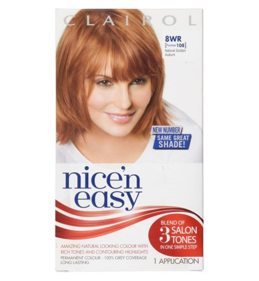 Nice'n Easy Permanent Hair Colour #8WR Natural Golden Auburn (Former #108 )