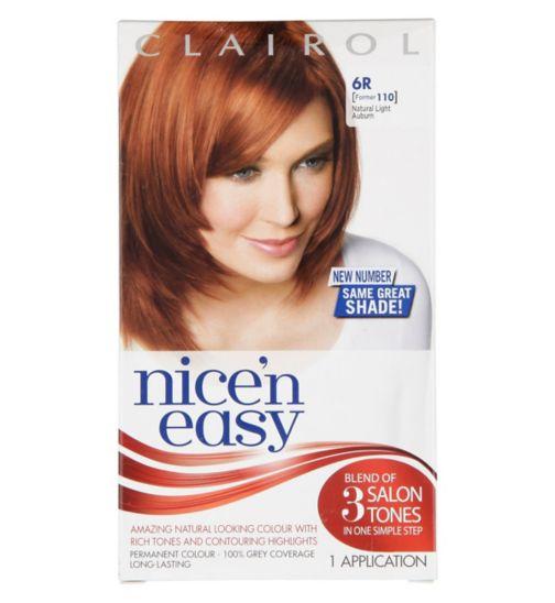Nice'n Easy Permanent Hair Colour #6R Natural Light Auburn (Former #110)