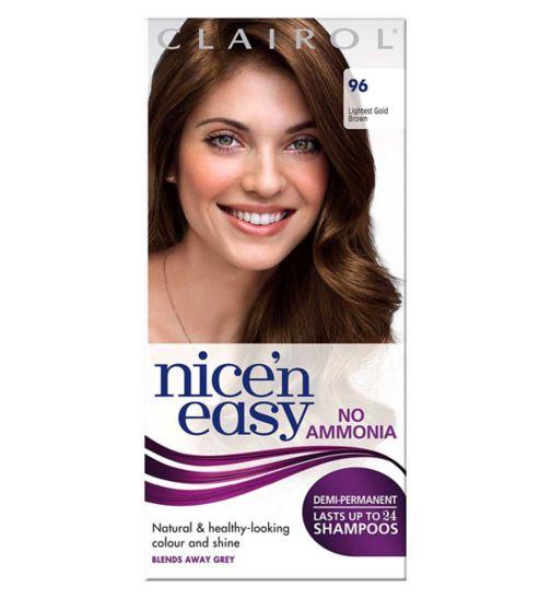 Nice'n Easy No-Ammonia Shade 96 Lightest Golden Brown Hair Colour