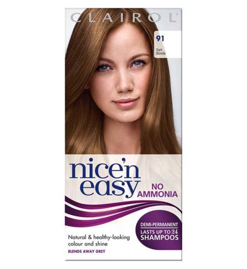 Clairol Nice'n Easy No-Ammonia Shade 91 Dark Blonde Hair Dye