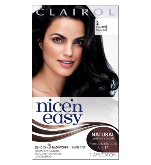 Nice'n Easy Permanent Hair Colour #2 Natural Black (Former #122)