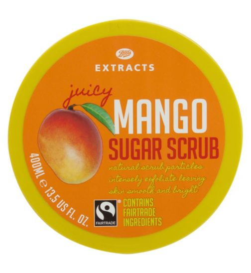 Boots Extracts [Mango Sugar Scrub] 400ml Containing Fairtrade ingredients