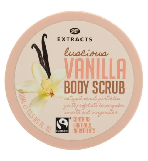 Boots Extracts [Vanilla Body Scrub] 400ml Containing Fairtrade ingredients