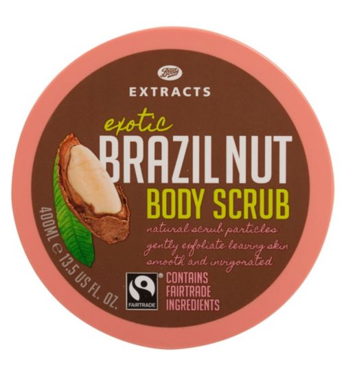 Boots Extracts [Brazil Nut Body Scrub] 400ml Containing Fairtrade ingredients