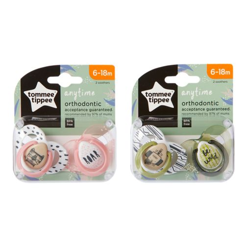 Tommee Tippee Closer to Nature Anytime Soother x 2- 6-18 months
