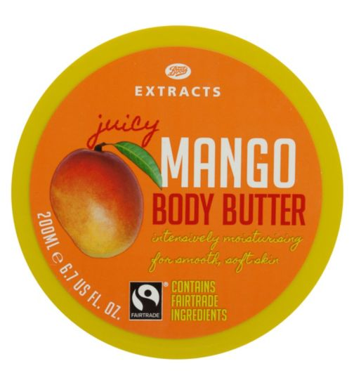 Boots Extracts [Mango Body Butter] 200ml Containing Fairtrade ingredients