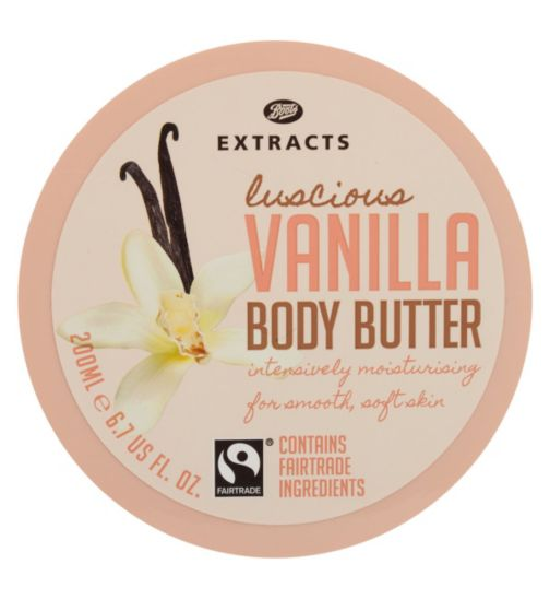 Boots Extracts [Vanilla Body Butter] 200ml Containing Fairtrade ingredients