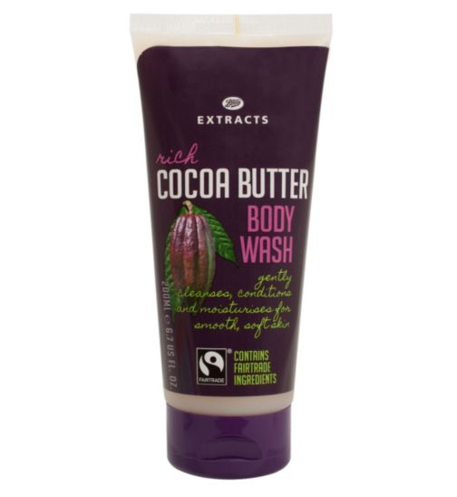 Boots Extracts [Cocoa Butter Body Wash] 200ml Containing Fairtrade ingredients