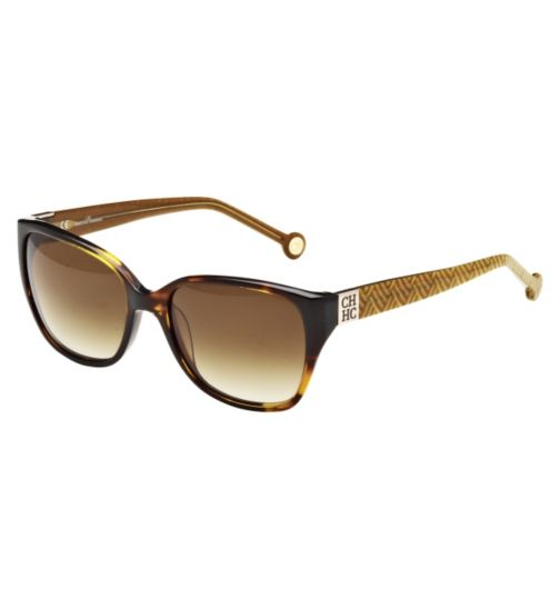 Carolina Herrera Women's Prescription Sunglasses - Havana SHE566