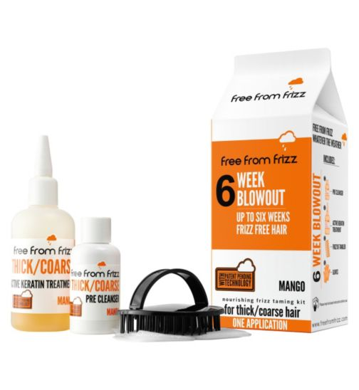 Free from Frizz: 6 Week Blowout Mango Kit for Thick/Coarse Hair