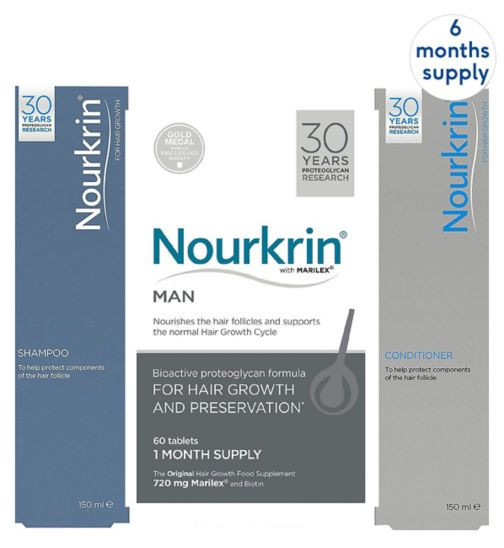 Nourkrin Man 6 months + Free 2x Nourkrin Shampoo & Scalp Cleanser 150ml & 2x Nourkrin Conditioner 150ml