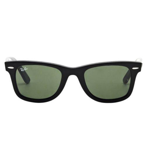 Ray-Ban Unisex Black Wayfarer Prescription Sunglasses - Black 0RB2140