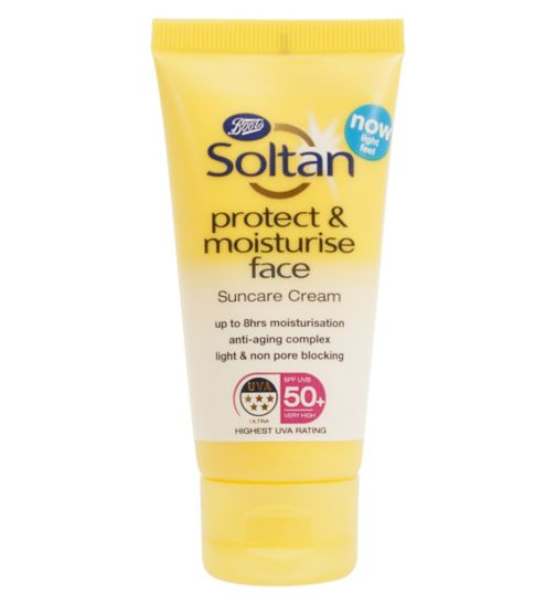 Soltan Protect & Moisturise Face Cream SPF50+ 50ML