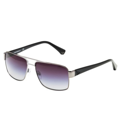Emporio Armani  Men's Prescription Sunglasses - Silver 0EA2002