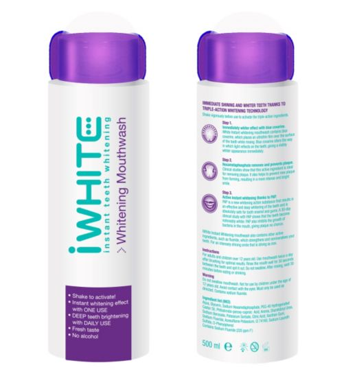 iWhite Whitening Mouthwash 500ml