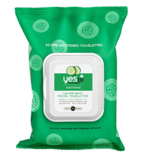 Yes to Cucumbers 30 Soothing Hypoallergenic Facial Wipes