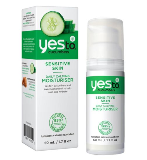 Yes to Cucumbers Daily Calming Moisturiser 50ml for Sensitive Skin