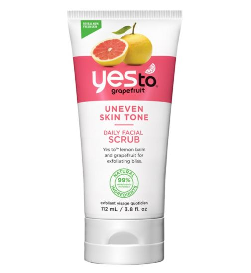 Yes to Grapefruit Daily Facial Scrub 112ml for Uneven Skin Tone