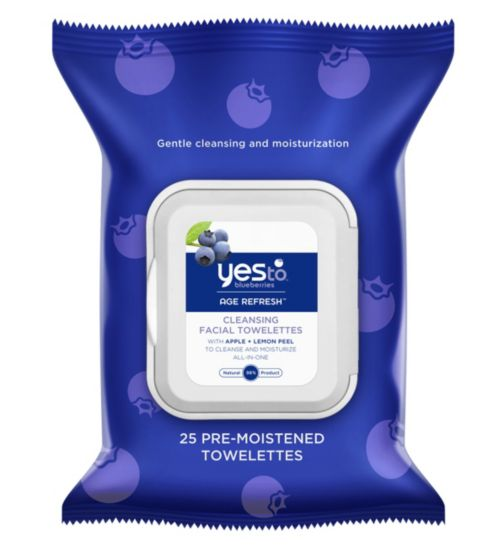 Yes to Blueberries 25 Cleansing Facial Wipes