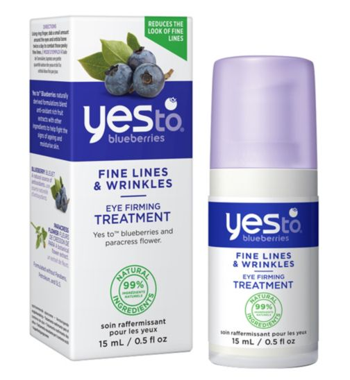 Yes to Blueberries Eye Firming Treatment 15ml for Fine Lines and Wrinkles