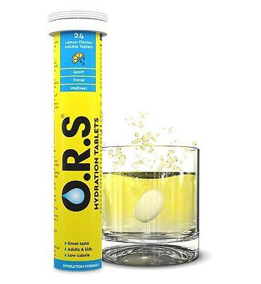 O.R.S. Oral Salts Lemon Flavour - 24 Tablets
