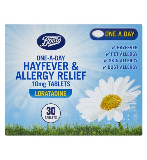 Boots Pharmaceuticals One-a-Day Allergy Relief 10mg Tablets - 30 Days Supply