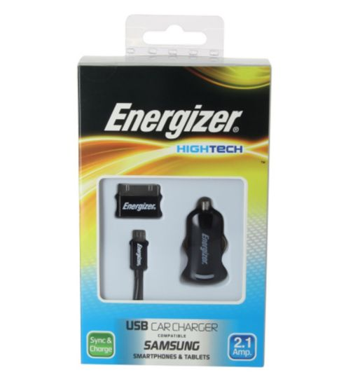 Energizer High Tech Micro USB Car Charger for Samsung Smartphones and Tablets