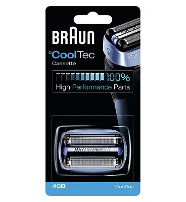 Braun CoolTec Electric Shaver Replacement Foil Cartridge, 340B Black