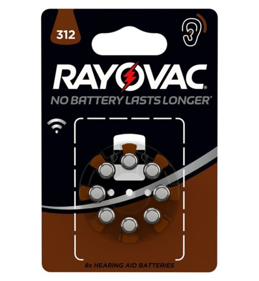 Rayovac 312 Hearing Aid Battery - pack of 8