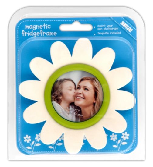 Shot 2 Go Flower Fridge Photo Frame- White