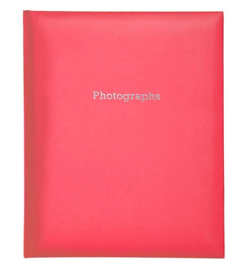 Red Self-Adhesive Photo Album 6x4 - 200 Photos