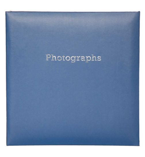Holiday Blue Slip In 7x5 Photo Album 200 Photos