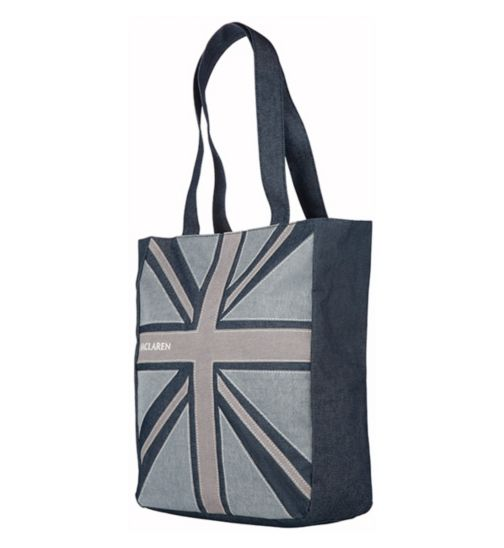 Maclaren Magazine Union Jack Denim Tote Bag