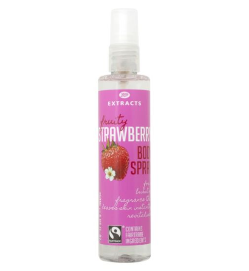 Boots Extracts [Strawberry Body Spray] 150ml Containing Fairtrade ingredients