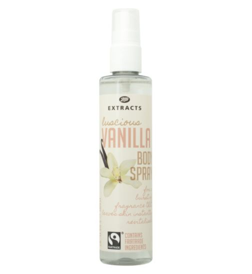Boots Extracts [Vanilla Body Spray] 150ml Containing Fairtrade ingredients