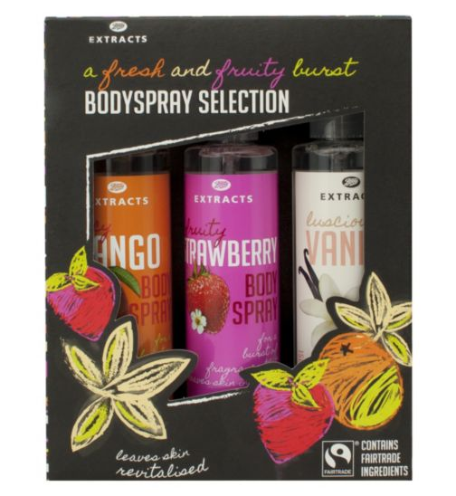 Boots Extracts [Body Spray Collection] Containing Fairtrade ingredients