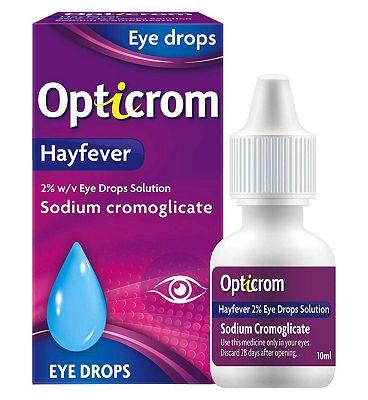 Opticrom Hayfever Eye Drops - 10ml