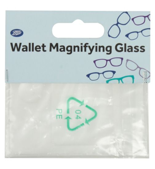 Boots Wallet Magnifying Glass