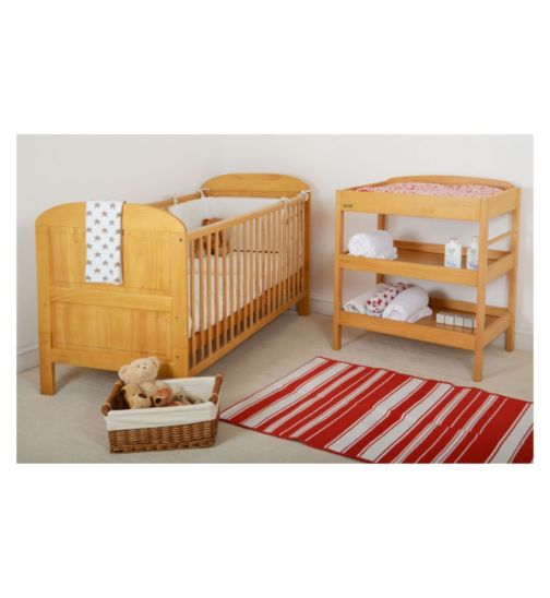 East Coast Package (Angelina Cot Bed & Clara Dresser) - Antique Finish