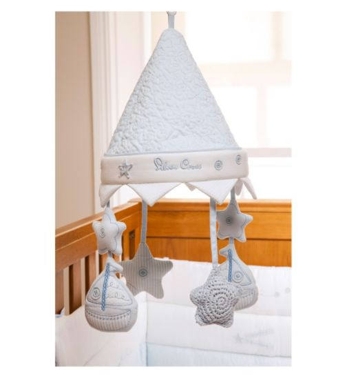 Silver Cross Luxury Musical Cot Mobile - Vintage Blue