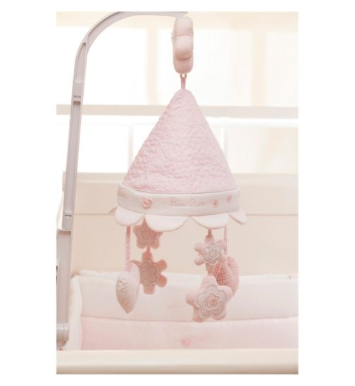 Silver Cross Luxury Musical Cot Mobile - Vintage Pink