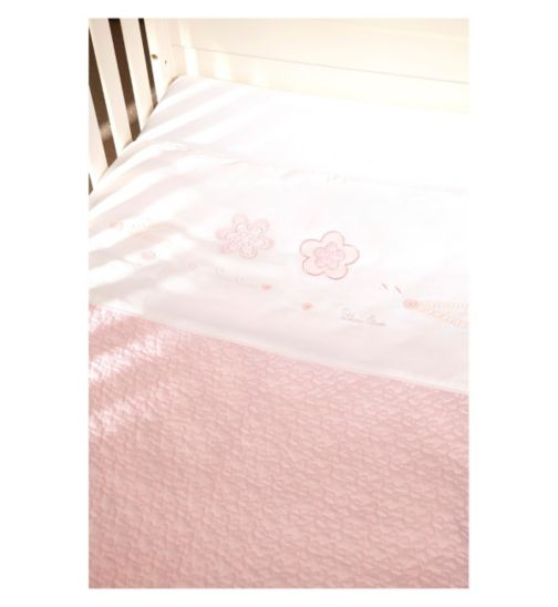 Silver Cross Luxury Hand Quilted Coverlet - Vintage Pink