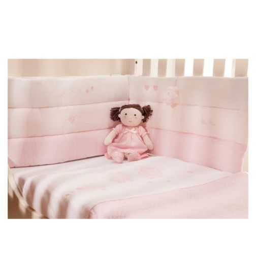 Silver Cross Luxury Cot Bumper - Vintage Pink