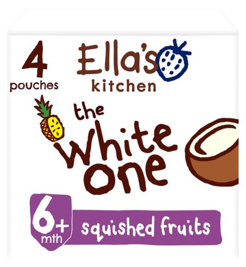 Ella's Kitchen Organic The White One Multipack Pouch 6+ Mths 4x90g