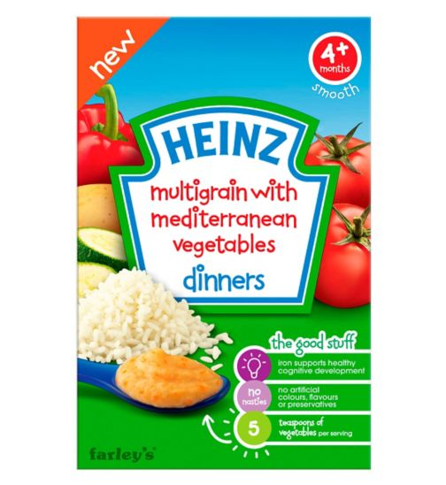 Heinz 4+ Months Multigrain with Mediterranean Vegetables Dinners 125g