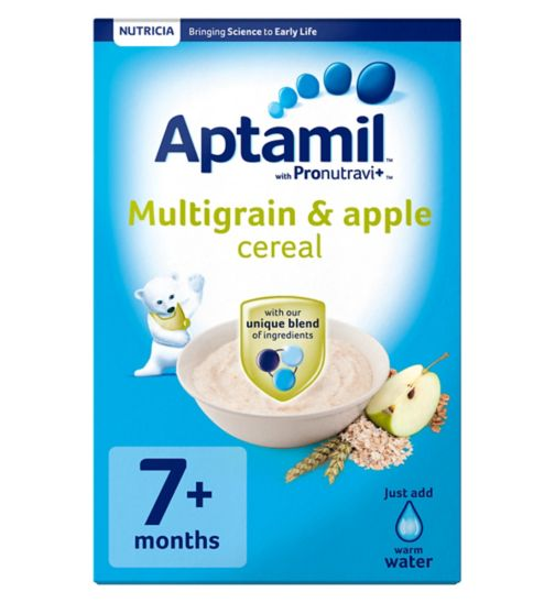 Aptamil with Pronutravi+ Multigrain & Apple Cereal 7+ Months 200g
