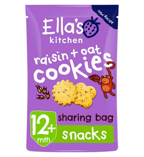 Ella's Kitchen Raisin + Oat Cookies from 12 Months 80g